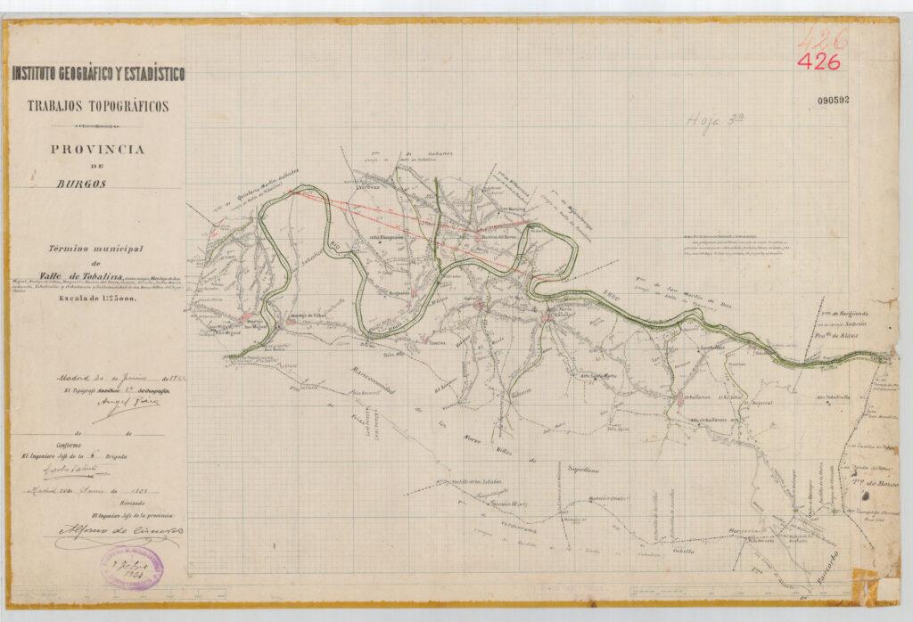 Trabajos topográficos de la provincia de Burgos para el Valle de Tobalina en 1922